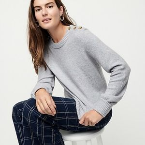 J.CREW | Button Super-Soft Yarn Crewneck Sweater/S